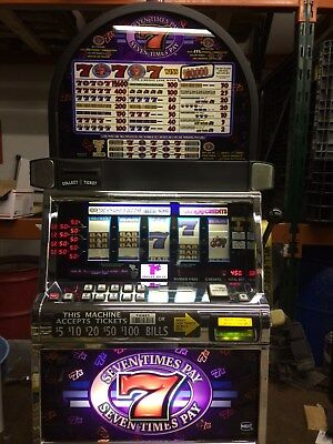 Igt S2000 Seven Times Pay 5-Reel Slot Machine (Coinless)
