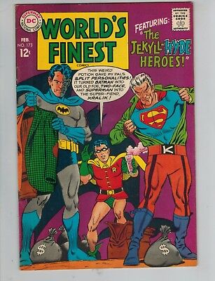 World's Finest 173  1st Silver Age Two Face!   Superman & Batman   1968 F/VF