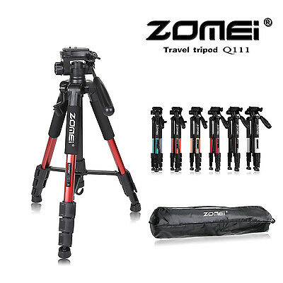 ZOMEI Q111 Portable Aluminum Travel Tripod & Pan Head For Gopro DSLR Camera SLR