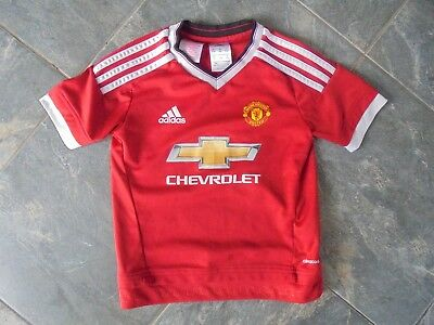 2015 - 2016 Manchester United Home Shirt, 5-6 Years, VGC Adidas