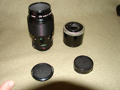 **NEAR MINT** CANON FD 100mm f/4 Macro Lens +FD 50 Ext Tube -Can adapt to NEX A7