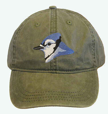 Blue Jay Embroidered Cotton Cap NEW Hat Bird