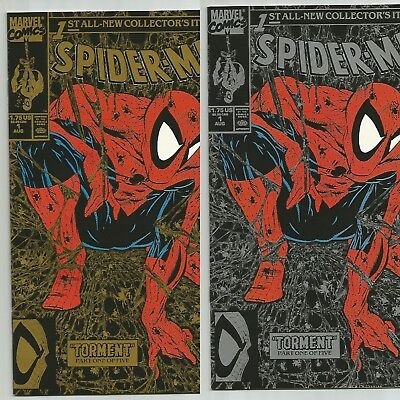 Lot of 2 copies, Spider-Man 1 Silver and Gold editions - Todd McFarlane 8/90