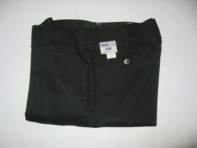 NWT DEADSTOCK LEE FRISKO JEENS Black Work Pants Jeans USA MADE Tag Size 33 X 31