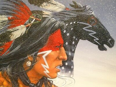 ENOCH KELLY HANEY Crazy Horse Native American Hand Signed Ltd Edition print