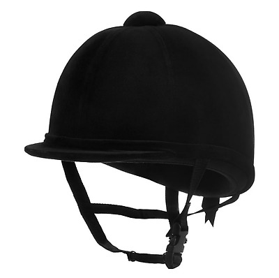 Charles Owen Young Riders Horse Riding Hat Velvet Black Size: 6 5/8 - 54 New