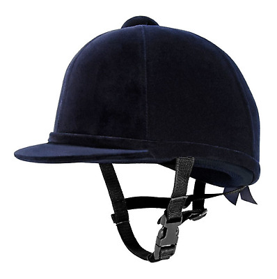 Charles Owen Young Riders Horse Riding Hat Velvet NAVY Size: 6 - 49 New