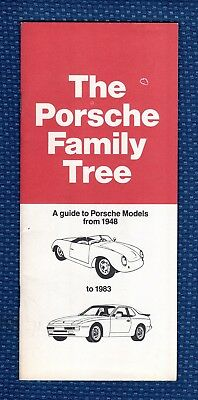1948 to 1983 The PORSCHE Family Tree Sales Brochure - ORIGINAL!