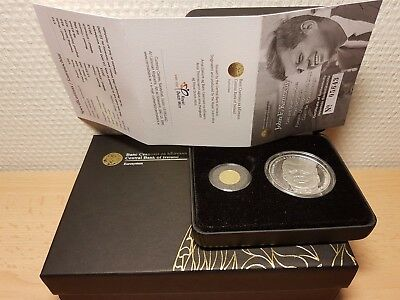 2013 JOHN F. KENNEDY GOLD & SILVER TWO COIN PROOF SET 10 + 20 € PP/OVP (10T Ex)