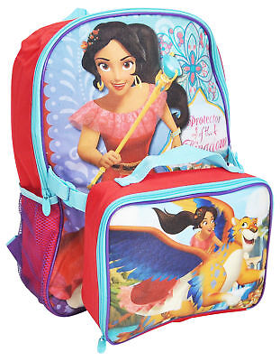 """Disney Elena of Avalor 16"""" Backpack with Insulated Lunch Bag"""