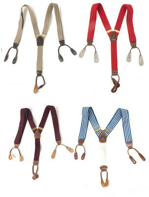 #43 Lot of 4 Vintage Men's Style Fashionable Mixed Brand Red, Beige Suspsenders