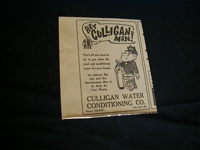 1968 newspaper ad for culligan water hey culligan man paper clipping
