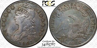Rare 1807 Capped Bust Half Dollar Small Stars PCGS Secure VF Details.