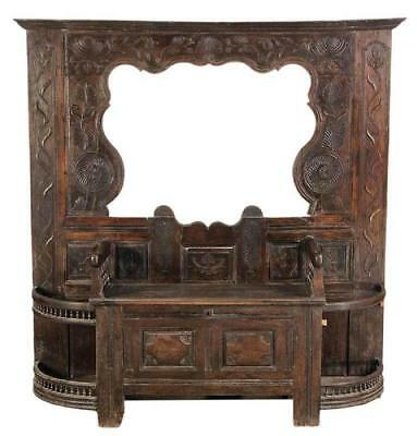 Provincial Carved Oak Hall Tree Stand, 18th Century ( 1700s )