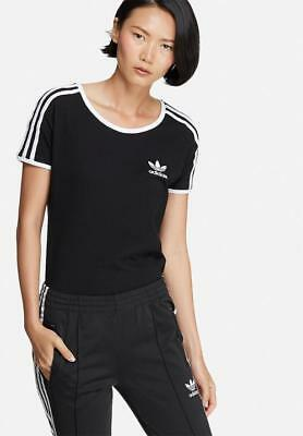 2016ADIDAS ORIGINALS WOMEN 3-STRIPES SANDRA 1977 TEE BK7133 Black/White T-Shirt