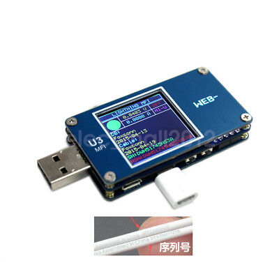 New TFT LCD USB Power Monitor MFI ARM M3 Voltage Current Meter Type-C USB PD