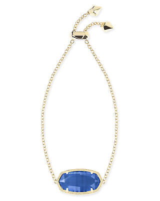 Kendra Scott Daisy Chain Bracelet in Navy and Gold Plated