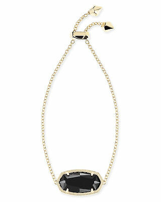 Kendra Scott Daisy Chain Bracelet in Black and Gold Plated