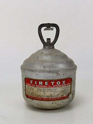 Vintage Fire Tox Model 165 F Automatic Extinguisher Unit Stubby