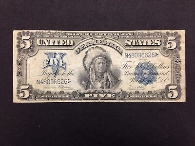 USA 5 Dollars  1899 -- Chief -- Silver Certificate