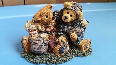 Boyds Bears Resin #2255 Grenville and Knute... Football Buddies 12E