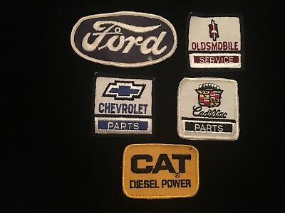 Vintage Automotive Patches- Service Station 60's, 70's Ford / Chevy /Olds