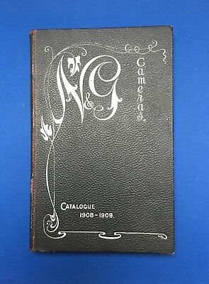 Antique 1908-09  N & G Newman & Guardia Camera & Photographic Catalogue 199 Pgs.