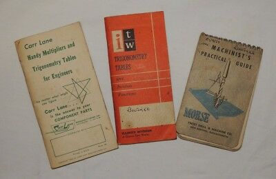 Vintage trigonometry tables booklets and machinist practical guide morse booklet
