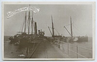 December 22 1909 Rp Postcard Ss Rupara At The Cowell Jetty West Coast Sa W24.