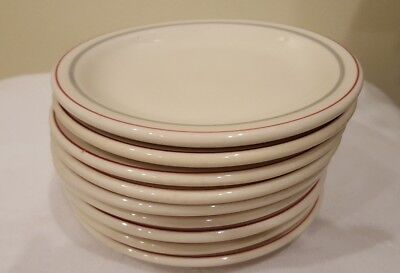 "Set Of 9 Vintage Sterling China Co Restaurant Ware  5 1/2"" Plates"