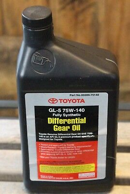 Genuine Toyota Lexus Tundra 75W-140 Synthetic Gear Oil Differential 00289-75140