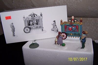 Dept 56 THE OLD PUPPETEER Dickens Village - Mint Cond