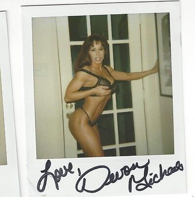 Adult Model Devon Michaels Signed Polaroid One Of A Kind! Hot Fitness Star