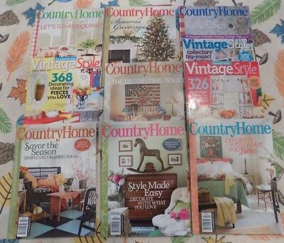 Large Lot of Country Home Vintage Style Magazines Used