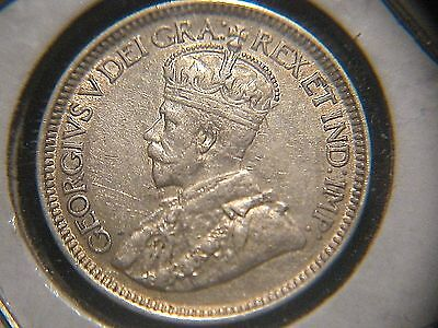 Canada 1917 10 Cents Sterling Silver Coin Ef