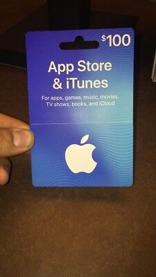 $100 iTunes Gift Card free shipping