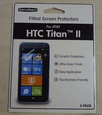 Writeright HTC Titan II AT&T cell phone fitted screen protectors