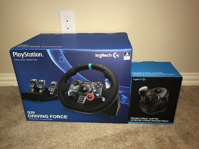 New Sealed Logitech G29 Driving Force Race Wheel Shifter For Ps3, Ps4 And PC