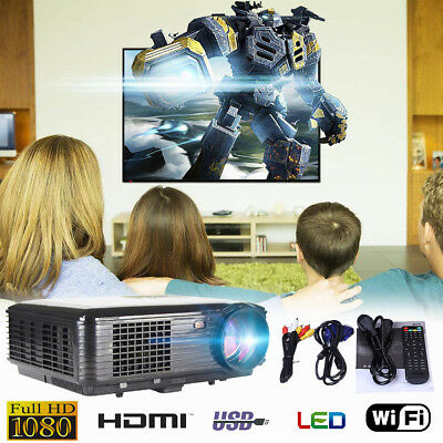 "5.8 "" Android WiFi LED Home theater Projector Digital TV USB HDMI VGA AV 1080P"