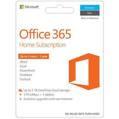 New Microsoft - Office 365 Home 2016  (Key Only) - Digital Download - 1 year
