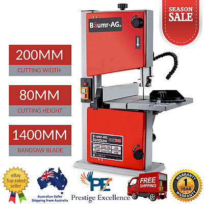 "8"" Inch Bandsaw Wood Timber Cutting Table Drill Press Band Saw 250W Motor Power"