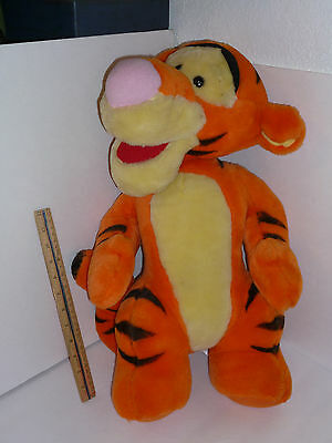 "Disney Tigger From Winnie The Pooh Large 22"" Stuffed Plush Toy Selling As Used"