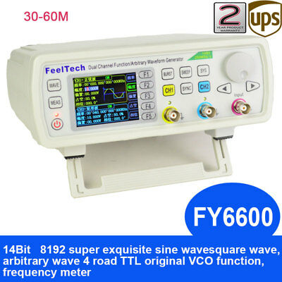 30-60MHz Function Arbitrary Waveform Pulse DDS Signal Generator FeelTech FY6600