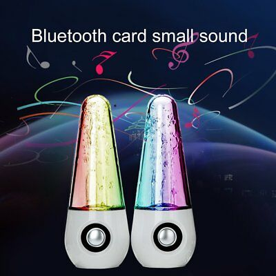 Bluetooth Wireless Speakers Dancing Water Speaker With Multicolored LED Light AU