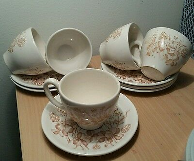 Coffee Cups  and Saucer set of 5 by EID ENGLAND