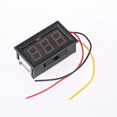 Mini Digital Voltmeter 0-100V Red LED Vehicles Motor Voltage Panel Meter U