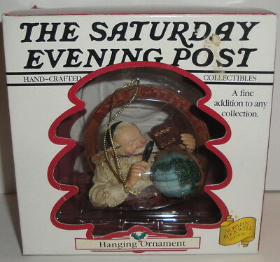 THE SATURDAY EVENING POST - HANGING ORNAMENT 1998 Curtis December 4th 1926 Santa