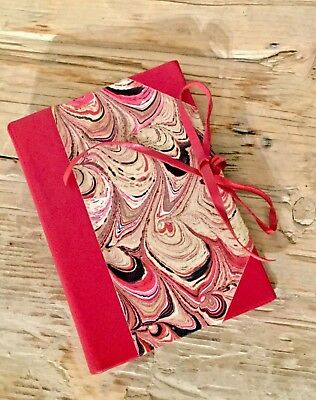 Il Torchio Firenze Italian Handmade Leather and Paper Address Book Journal Red