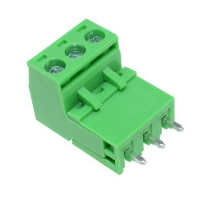10Stks 5.08mm Pitch KF2EDGK KF-3P 3 Pin Right Angle Plug-in Terminal Connector