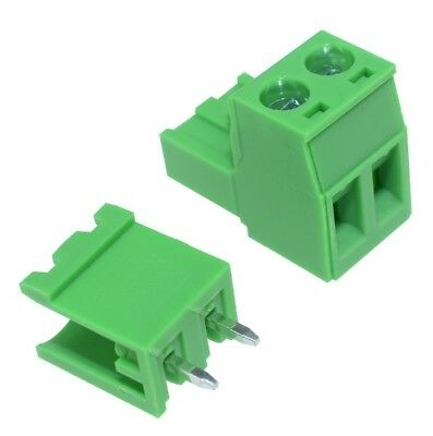 10PCS 5.08mm Pitch KF-2P KF2EDGK  2Pin Right Angle Plug-in Terminal Connector